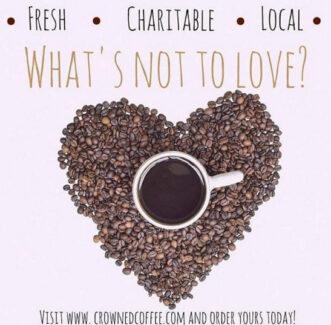 Crowned Coffee coffee heart 2