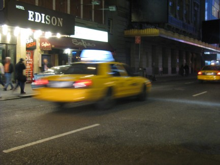 """""""NYC Taxi in motion"""" by The Wordsmith"""