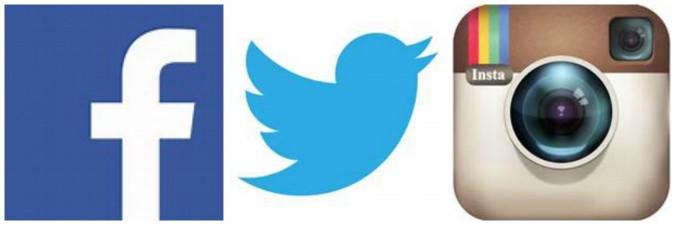 social media logo collage