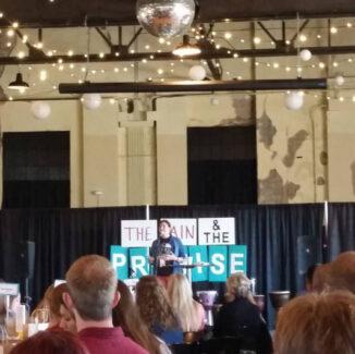 Kim Bandy speaking at Marked